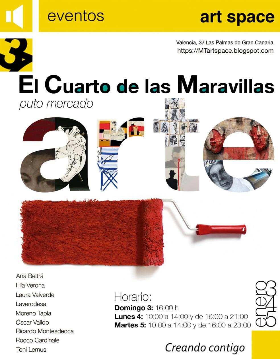 """MTartspace abre sus puertas a una edición de """"El cuarto de las maravillas. Puto mercado del arte"""" los días 3, 4 y 5 de enero. // CanariasCreativa.com"""