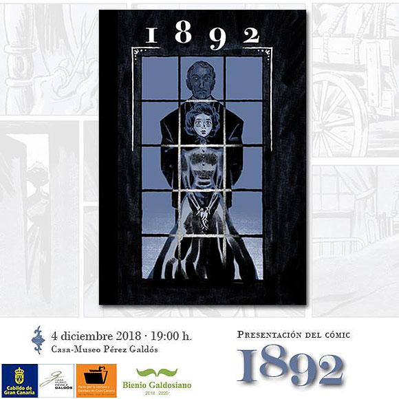 Este próximo martes 4 de diciembre, se presenta el cómic «1892», nuevo trabajo del ilustrador Alberto Hernández junto al escritor Antonio Becerra. // CanariasCreativa.com