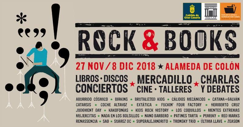 Llega «Rock and books» del 27 de noviembre al 8 de diciembre en Las Palmas de Gran Canaria // CanariasCreativa.com