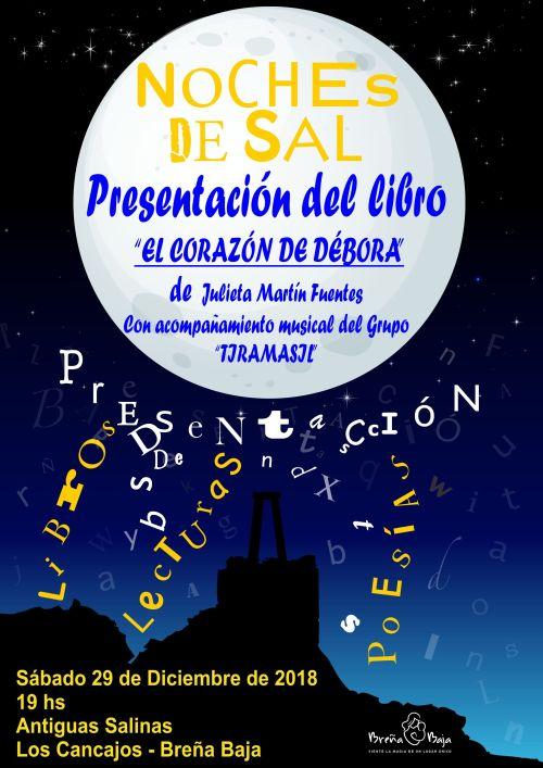 Julieta Martín presenta «El corazón de Débora» en las Noches de Sal este 29-D // CanariasCreativa.com