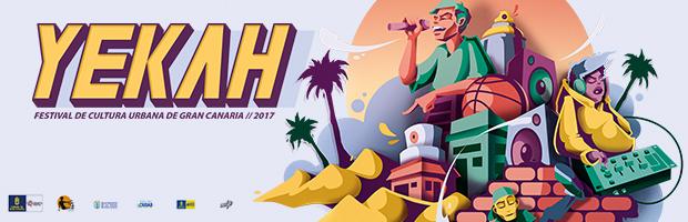 YEKAH, el Festival de Cultura Urbana de Gran Canaria, del 29 de junio al 31 de julio en Las Palmas de Gran Canaria. // CanariasCreativa.com