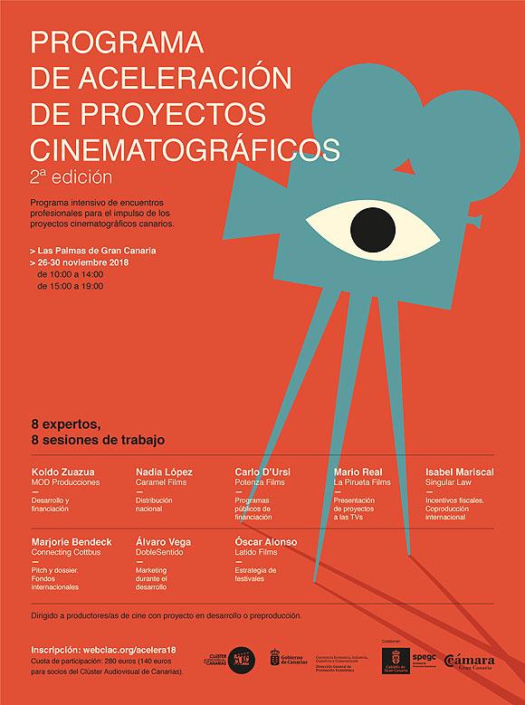 Abierta la inscripción para la 2ª edición del «Programa de aceleración de proyectos cinematográficos» del Clúster Audiovisual de Canarias // CanariasCreativa.com