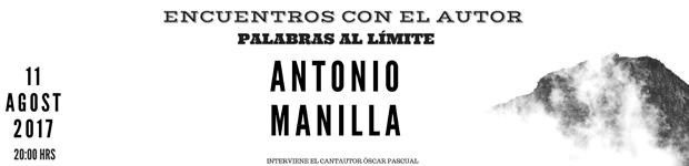 """Antonio Manilla protagoniza el """"Encuentros con el autor - Palabras al límite"""" en agosto // CanariasCreativa.com"""