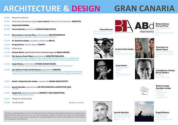 «Architecture & design Gran Canaria» se celebrará el próximo 17 de octubre. // CanariasCreativa.com