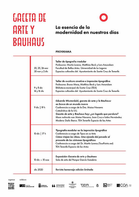 El espíritu de la vanguardia en el diseño y la tipografía revive con el proyecto «Gaceta de Arte y Bauhaus» // CanariasCreativa.com