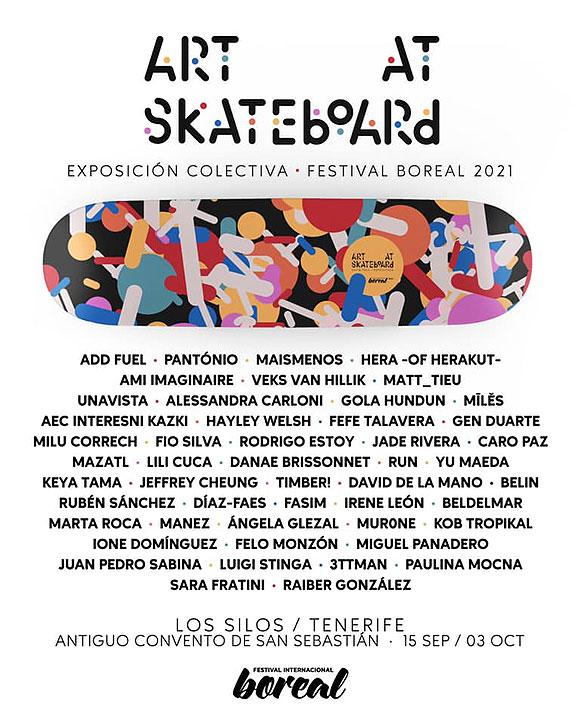 El Festival Boreal exhibe las obras del sudafricano Keya Tama y la exposición colectiva «Art at Skateboard» //  CanariasCreativa.com