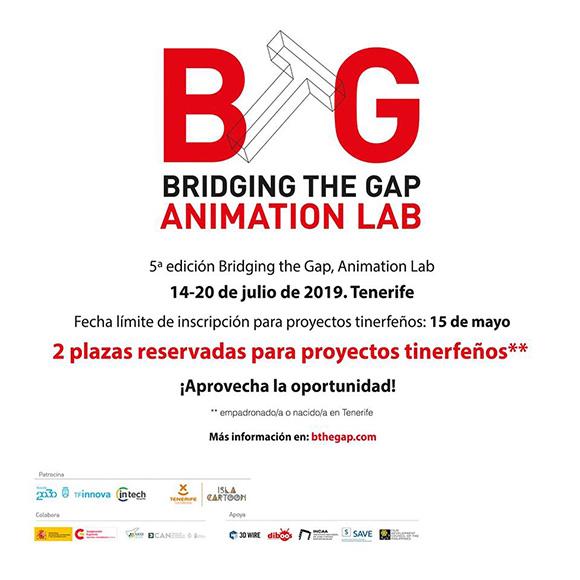 «Bridging The Gab Animation Lab» amplía su plazo para los proyectos tinerfeños hasta el 15 de mayo