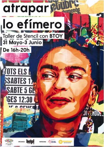Taller de stencil con la artista BTOY, en Gran Canaria, dentro de WallPeople Las Palmas 2016