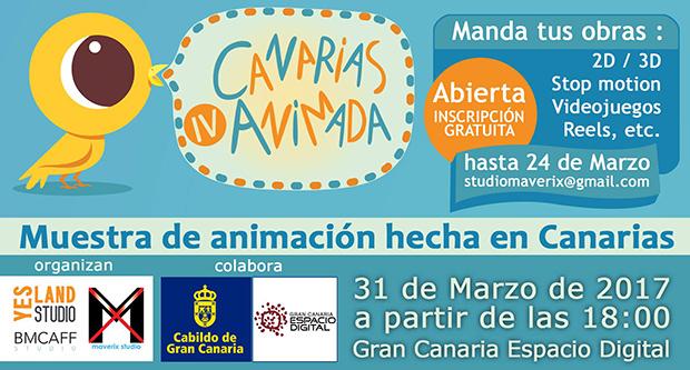 La IV Canarias Animada, muestra de animación hecha en Canarias, llega a Gran Canaria Espacio Digital // CanariasCreativa.com