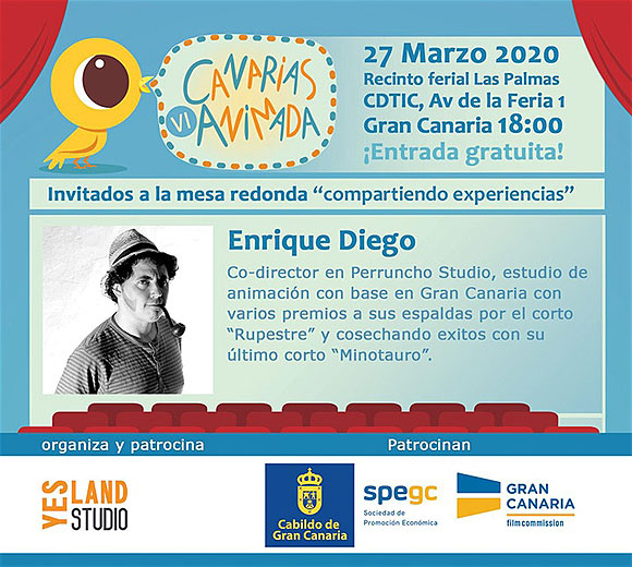 Llega la VI edición de «Canarias animada» el próximo 27 de marzo // CanariasCreativa.com