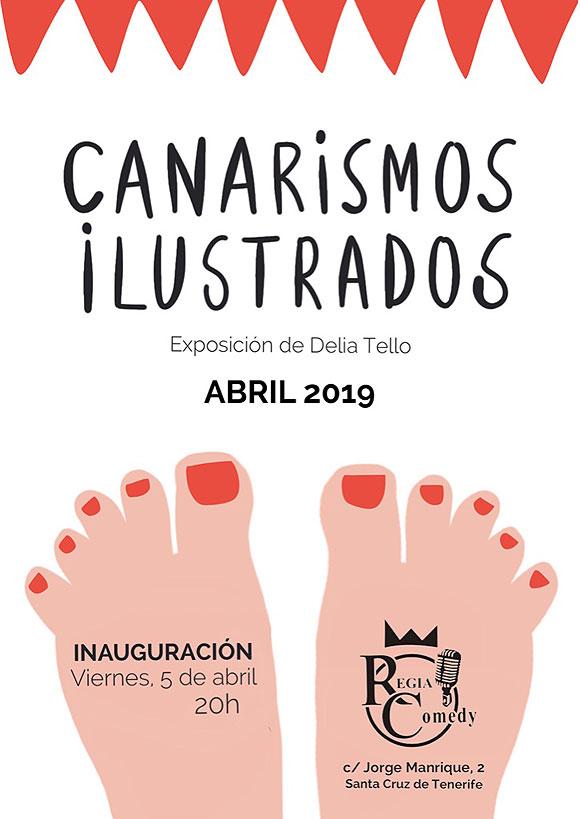 Los «canarismos ilustrados» de Delia Tello llegan a Regia Comedy // CanariasCreativa.com