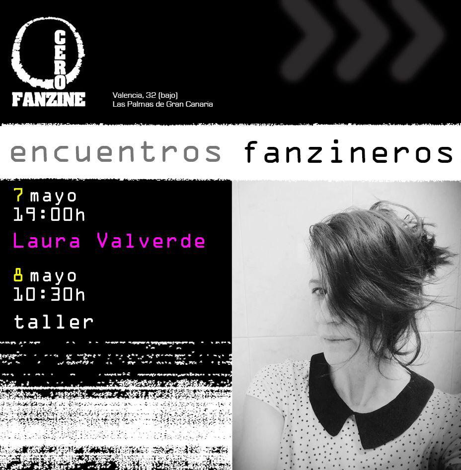 Presentación de fanzine en CeroFanzine a cargo de Laura Valverde, con taller al día siguiente // CanariasCreativa.com