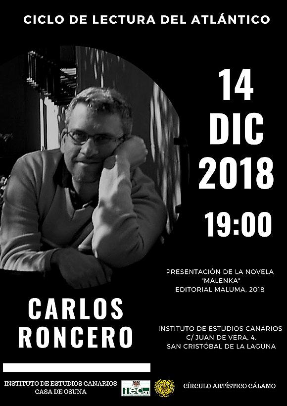 El «Ciclo de Lectura del Atlántico» presenta lo último del tinerfeño Carlos Roncero // CanariasCreativa.com