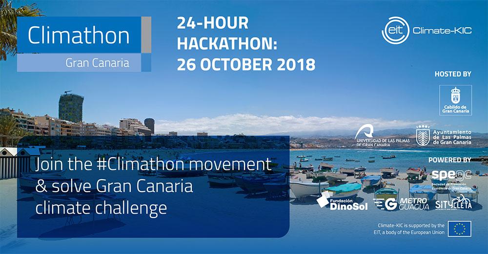Gran Canaria, una de las cien sedes del mundo que celebran el #Climathon para luchar de manera innovadora contra el cambio climático // CanariasCreativa.com