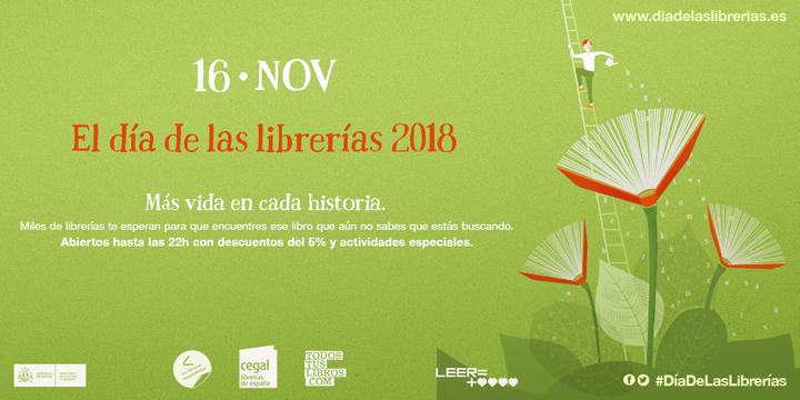 Este próximo viernes 16 de noviembre se celebra el Día de las Librerías 2018. // CanariasCreativa.com