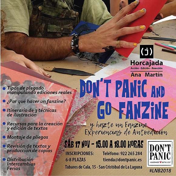 Don't Panic & Go Fanzine. Experiencias de Autoedición, este sábado 17 de noviembre en La Laguna. // CanariasCreativa.com