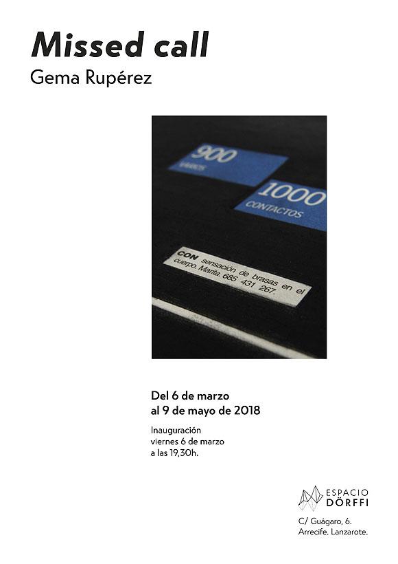 """Gema Rupérez presenta la exposición """"Missed Call"""" en Espacio Dörffi // CanariasCreativa.com"""