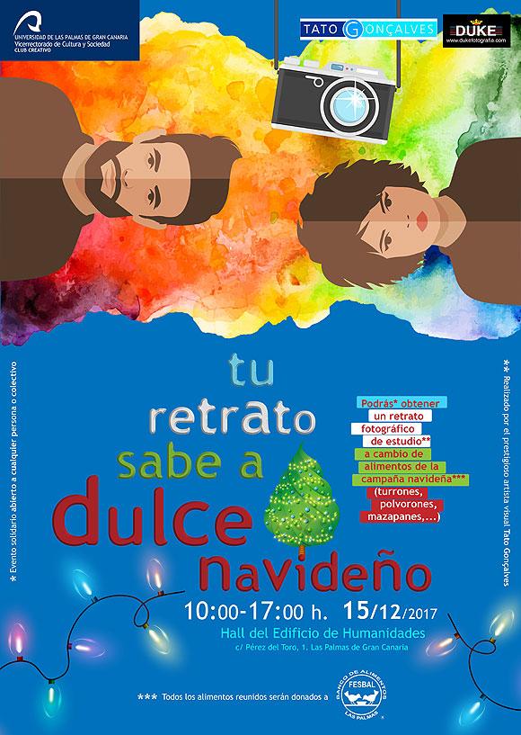 """El Club Creativo de la ULPGC organiza """"Tu Retrato sabe a Dulce Navideño"""", a beneficio del Banco de Alimentos de Las Palmas // CanariasCreativa.com"""