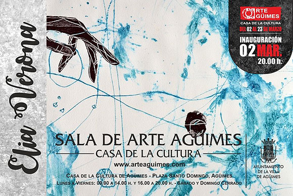 La obra de Elia Verona llega a la Sala de Arte Agüimes (GC) del 2 al 23 de marzo.