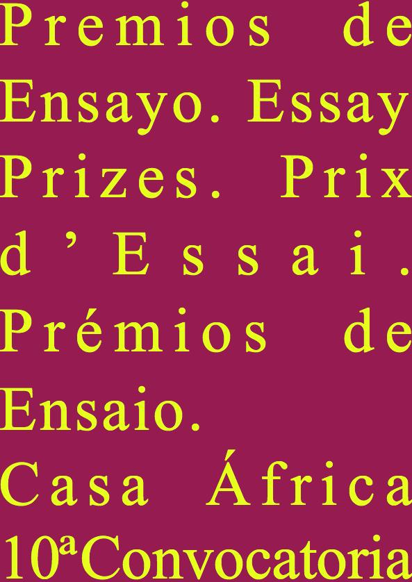 10ª Convocatoria de los Premios de Ensayo Casa África // CanariasCreativa.com