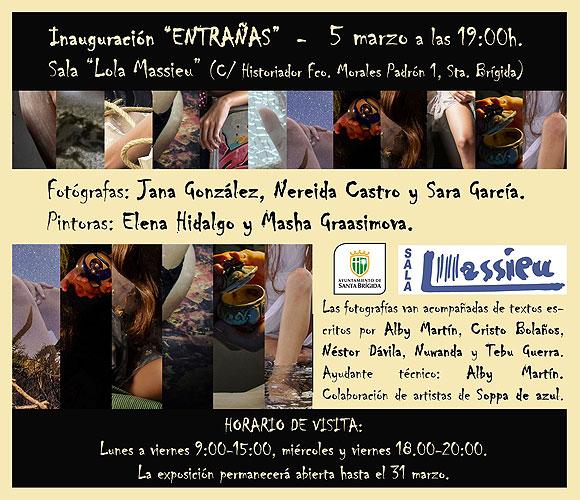 «Entrañas: canciones de la artista Bebe fotografiadas y pintadas» sale a la luz este jueves 5 de marzo en la Sala Lola Massieu (Santa Brígida)
