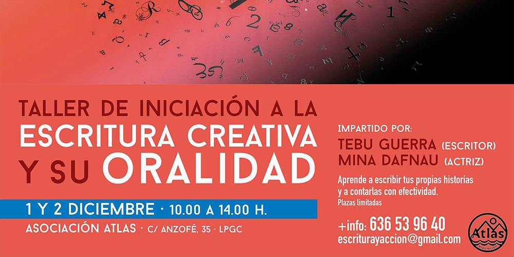 Taller de «Iniciación a la escritura creativa y su oralidad» en la Asociación Atlas Gran Canaria // CanariasCreativa.com