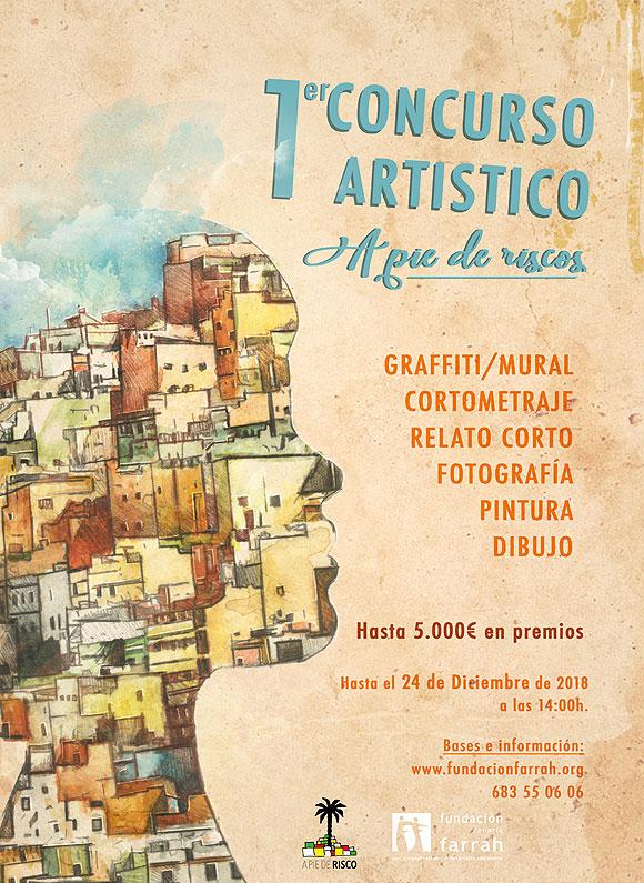La Fundación Canaria Farrah convoca el I Concurso artístico y literario «A Pie de Riscos» // CanariasCreativa.com