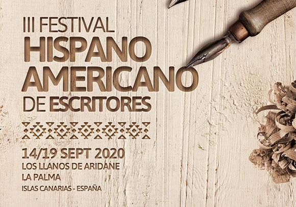 El Festival Hispanoamericano de Escritores regresará del 14 al 19 de septiembre en Los Llanos de Aridane (La Palma)