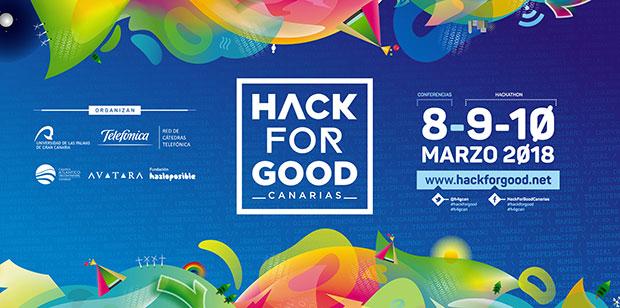 HackForGood Canarias se desarrollará los días 8, 9 y 10 de marzo en busca de soluciones tecnológicas que ayuden a mejorar el mundo // CanariasCreativa.com