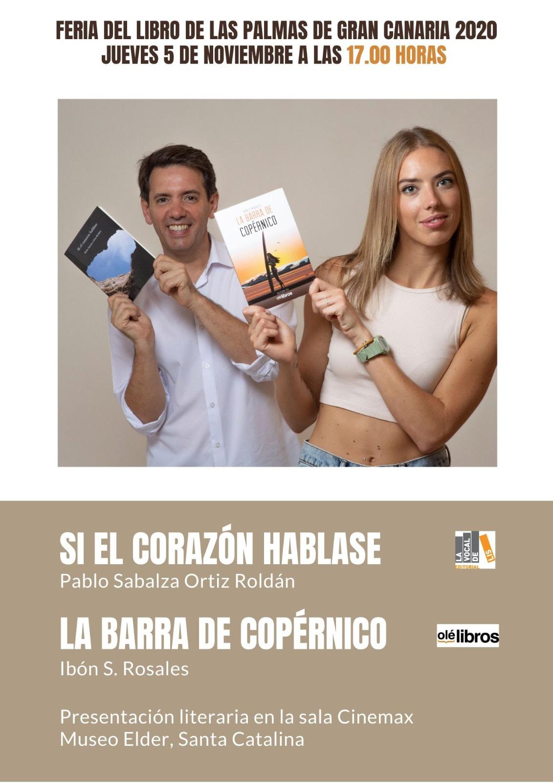 Doble presentación de poesía en la Feria del libro de Las Palmas: «Si el corazón hablase» y «La barra de Copérnico» // CanariasCreativa.com