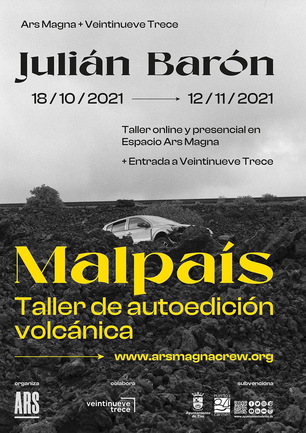 Taller de autoedición «Malpaís. Taller de autoedición volcánica» con Julián Barón con ediciones virtuales y físicas en Lanzarote // CanariasCreativa.com