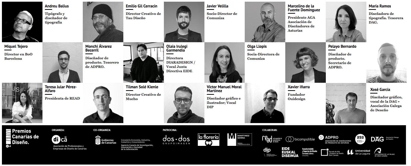 Un jurado espectacular para la quinta edición de los Premios Canarias de Diseño, organizados por la Asociación de Profesionales y Empresas de Diseño de Canarias (di-Ca) y la ACIISI del Gobierno de Canarias // CanariasCreativa.com