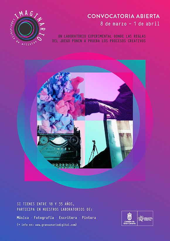 La Consejería de Cultura del Cabildo de Gran Canaria, a través de Gran Canaria Espacio Digital, convoca el taller para Laboratorio Imaginario. // CanariasCreativa.com