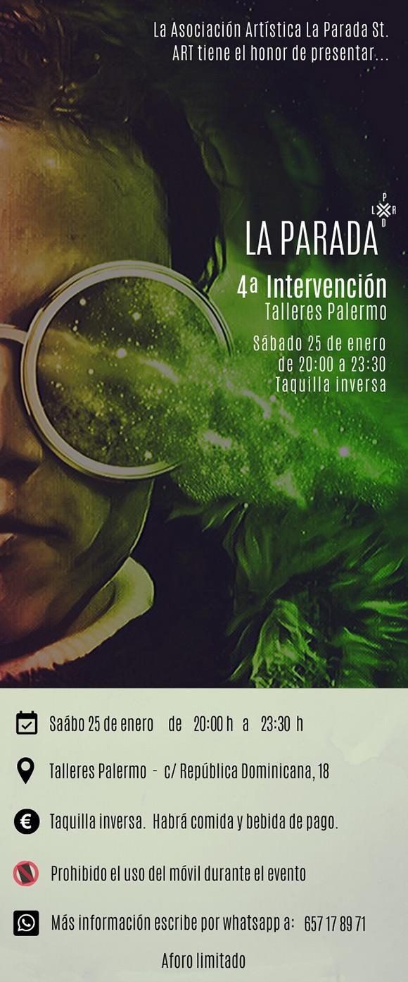 4° Intervención de «La Parada», mañana sábado 24 de enero en Talleres Palermo  // CanariasCreativa.com