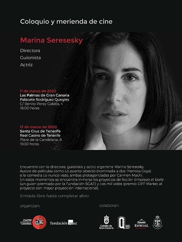 La directora argentina Marina Seresesky protagoniza el ciclo «Meriendas de Cine» // CanariasCreativa.com