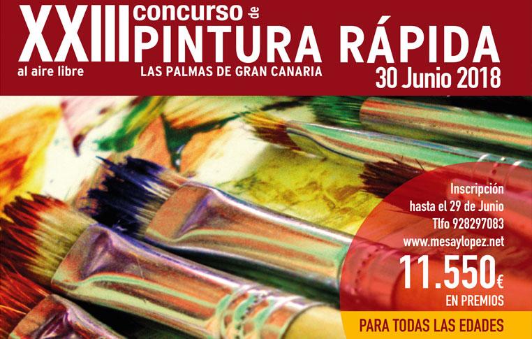 Convocado el XXIII Concurso de Pintura rápida al aire libre Las Palmas de Gran Canaria, para el próximo sábado 30 de junio. // CanariasCreativa.com