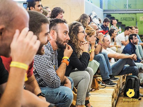 Los nómadas digitales invaden, un año más, la capital grancanaria para mostrar las últimas tendencias y herramientas del trabajo remoto. // CanariasCreativa.com