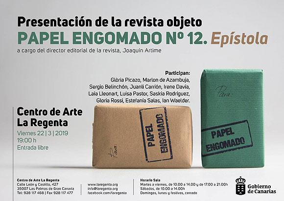 «Papel engomado» vuelve a La Regenta // CanariasCreativa.com