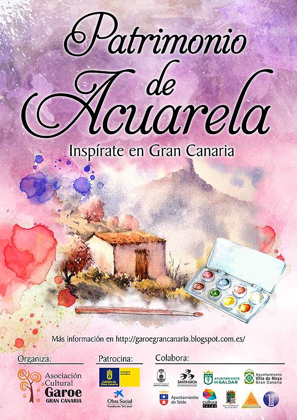 La Asociación Cultural Garoé en colaboración con los municipios de Telde, Santa Lucía, Gáldar, San Mateo y Moya ponen en marcha el programa Patrimonio de Acuarela. // CanariasCreativa.com