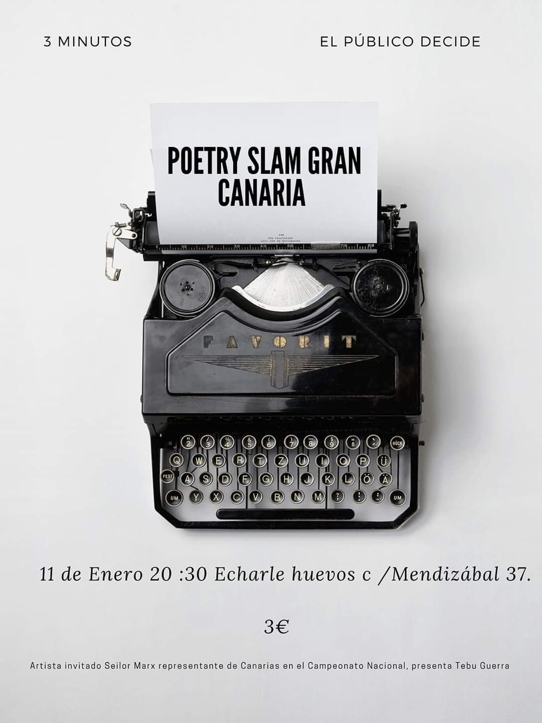 El evento «Poetry Slam» regresa mañana a Gran Canaria