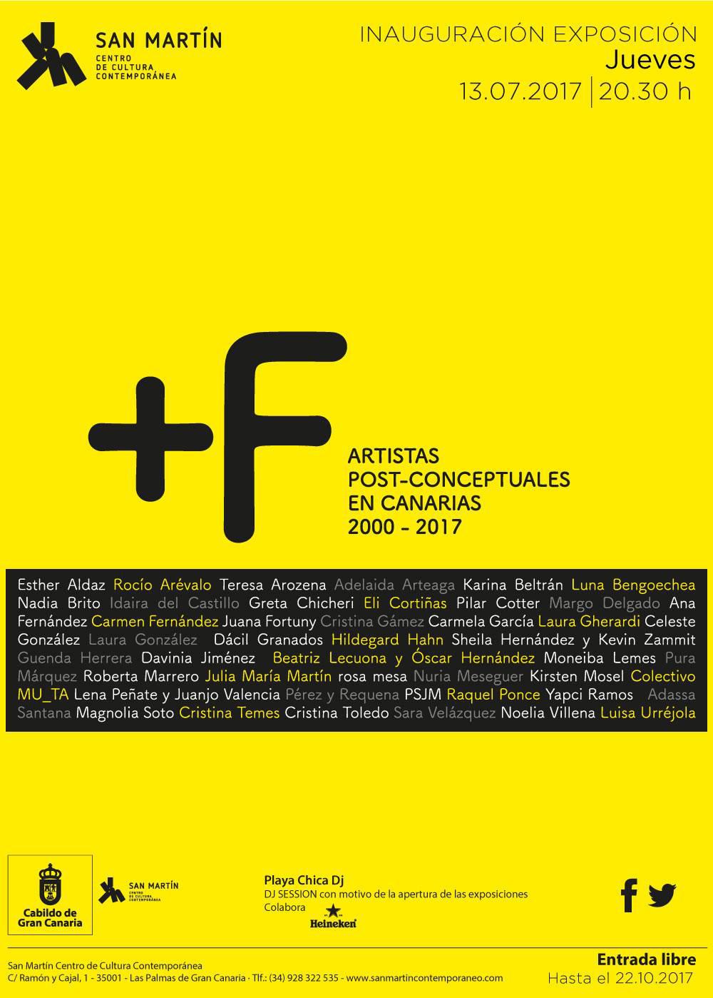 +F Artistas post-conceptuales en Canarias 2000-20017, del 13 de julio al 22 octubre 2017 en San Martín (GC)  // CanariasCreativa.com