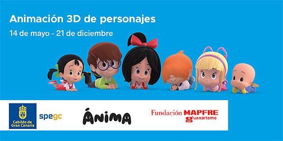 La SPEGC, Ánima y la Fundación Mapfre Guanarteme presentan un curso de Animación 3D de Personajes para profesionales // CanariasCreativa.com