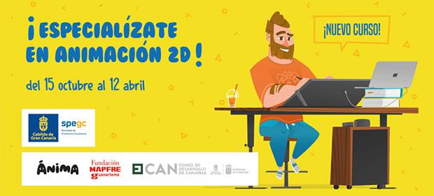 La Spegc lanza el curso de «Animación 2D de Personajes» con la colaboración de Fundación MAPFRE Guanarteme y Ánima // CanariasCreativa.com