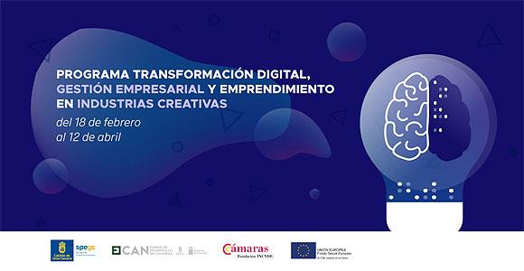 La SPEGC anuncia el programa formativo «Transformación digital, gestión empresarial y emprendimiento en las industrias creativas» // CanariasCreativa.com
