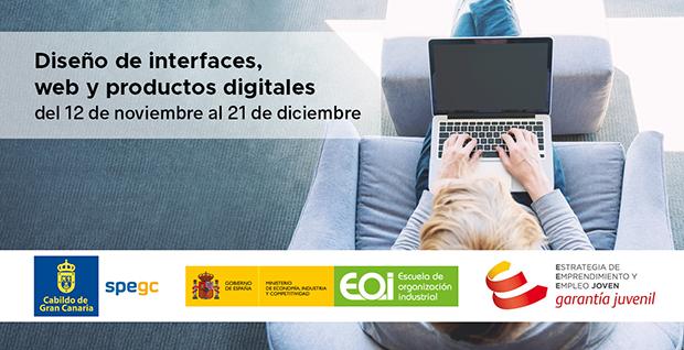 SPEGC y EOI anuncian un nuevo curso para desempleados de «Diseño de interfaces, web y productos digitales»