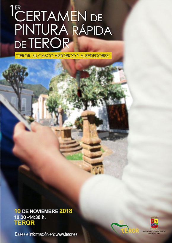 Teror (Gran Canaria) celebra su primer Certamen de Pintura Rápida el 10 de noviembre // CanariasCreativa.com