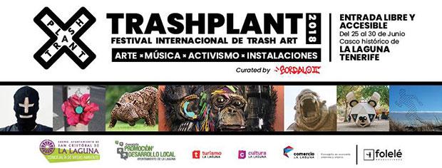 Trashplant, el festival del arte de la basura, del 25 al 30 de junio en La Laguna. // CanariasCreativa.com