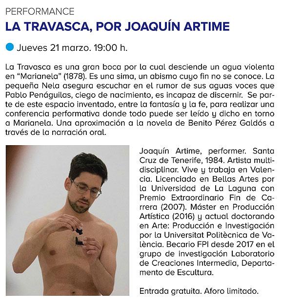 Performance de Joaquín Artime en la Casa-Museo Pérez Galdós // CanariasCreativa.com
