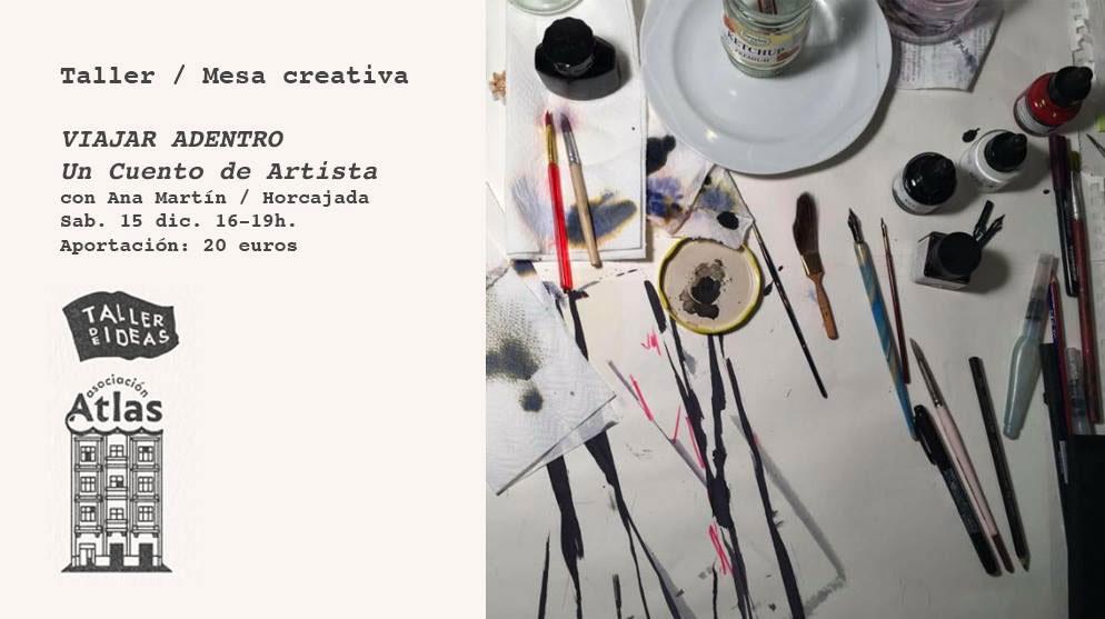 La Asociación Atlas Gran Canaria organiza el taller «Viajar adentro. Un cuento de artista» con Horcajada Acción-Edición-Reacción // CanariasCreativa.com