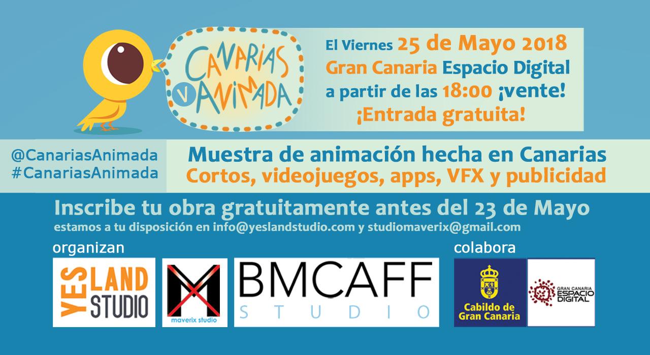 Este viernes 25 de mayo, el V Canarias Animada. ¡Inscripciones para mostrar tu trabajo aún abiertas! // CanariasCreativa.com
